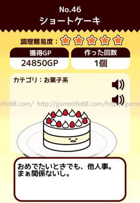 ぐでたま ショートケーキ
